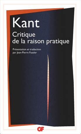 critique de la raison pratique de emmanuel kant editions