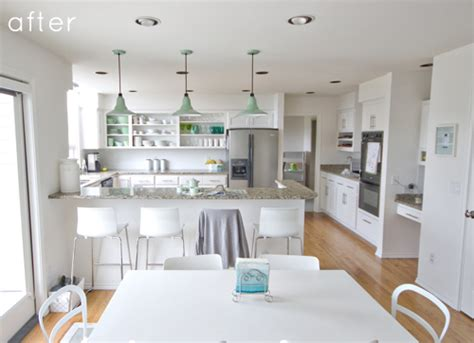 white kitchen cabinets before and after before after kitchen makeover design sponge 2054