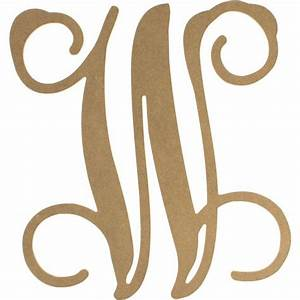 12quot wood letter vine monogram w ab2218 craftoutletcom With vine monogram wood letters
