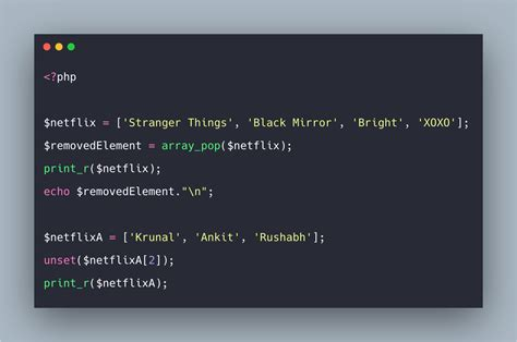 PHP Array Pop Example | PHP array_pop() Function Tutorial