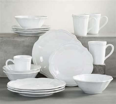 pottery barn white dishes leila 16 dinnerware set white pottery barn
