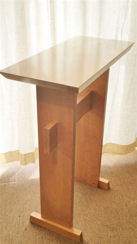 custom wood podium lectern  standing desk  writing