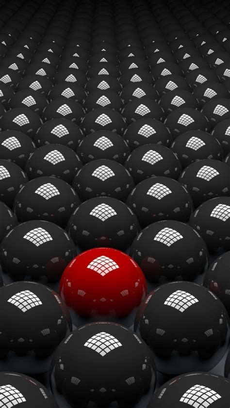 Download and use 40,000+ mobile wallpaper stock photos for free. 3d abstract red and black balls 4k hd abstract Wallpapers ...