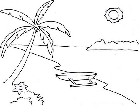 mewarnai gambar pemandangan alam pantai bonikids