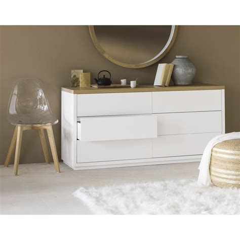 Commode Blanche 6 Tiroirs by Commode Blanche 6 Tiroirs Austral Maisons Du Monde