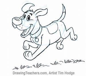 Cartoon Dog - How to Draw a Dog Step by Step.