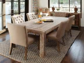 kitchen dark laminate flooring large rustic dining table rustic dining chairs wicker area rugs