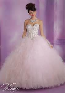 corset style wedding dresses satin and ruffled tulle quinceanera dress with beading style 89005 morilee