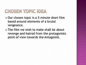 5 minute short film pitch