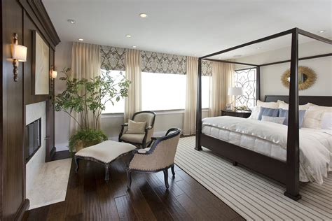 Vibrant Transitional Master Bedroom Before and After   San