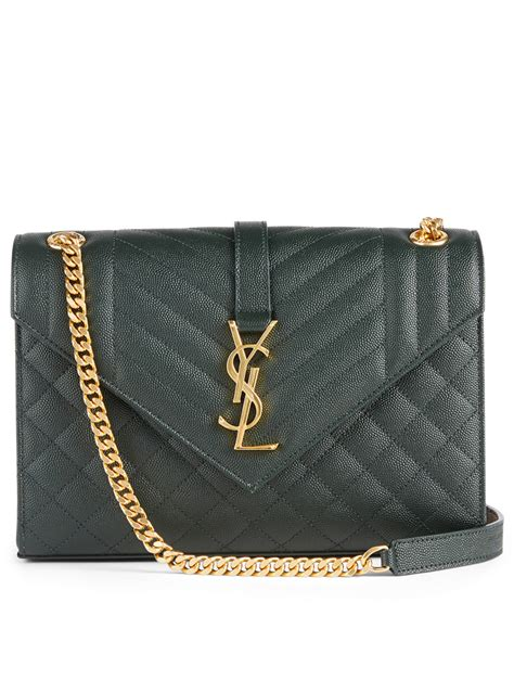 saint laurent medium ysl monogram leather envelope bag holt renfrew canada