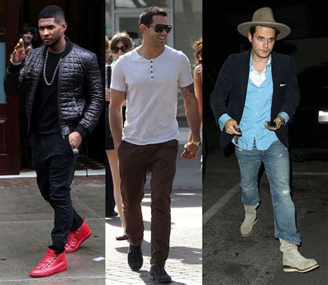 Celebrity Menu2019s Street Style Week of March 25th with Usher John Mayer Jesse Metcalfe and More ...