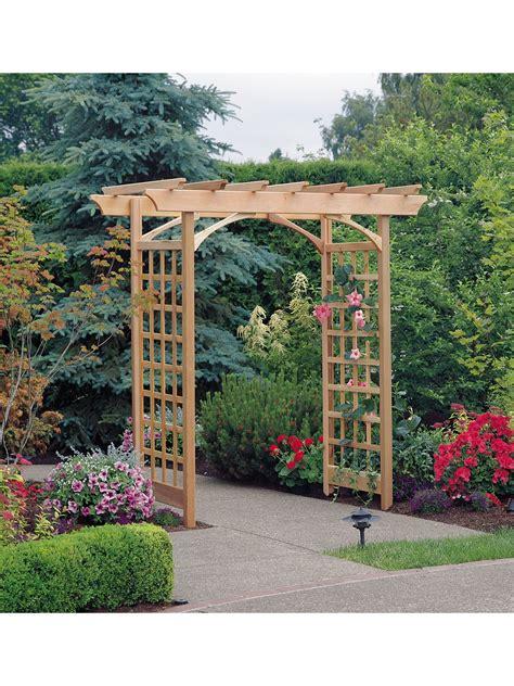 Outdoor Arbor by Berkeley Arbor Adjustable Width Cedar Arbor Gardeners