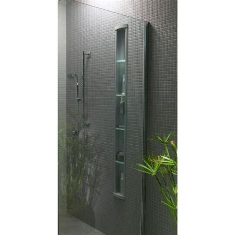 kohler pilaster wall mount aluminum shower niche  satin