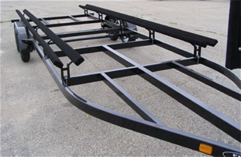 Pontoon Boat Trailer Design by White Boat How To Build A Pontoon Boat Trailer