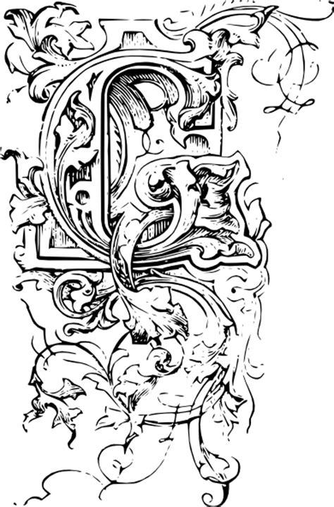 ornate letter  clip art  clkercom vector clip art