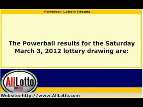 Powerball Lottery Results Drawing