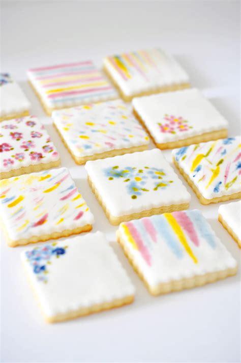 inspiring hand painted watercolor cookies  cookbooks