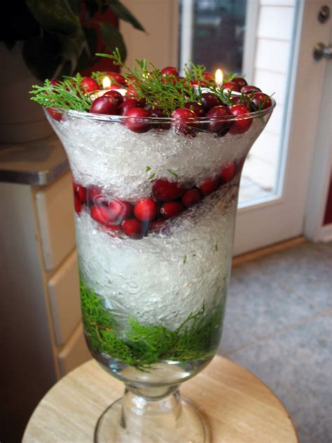 christmas centerpieces creativity with plastic wrap a snowy christmas centerpiece big red kitchen a regular