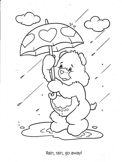 printable rainy day coloring pages