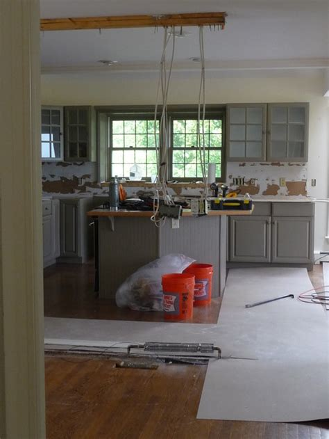 Kitchen Island Sink Position by Kitchen Island Position Now That Wall Is Demo