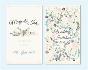 simple wedding invitation floral card vector 04 vector With minimalist floral wedding invitations