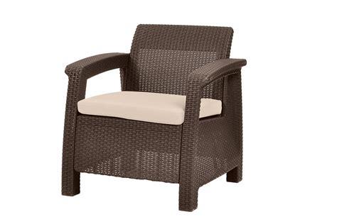 Keter Corfu Armchair All Weather Outdoor Patio Garden
