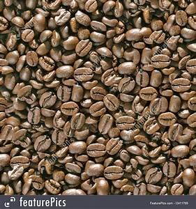 Coffee Beans Seamless Background.