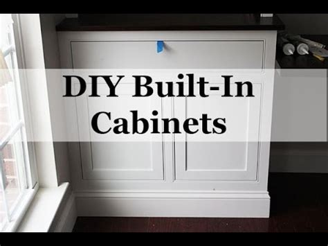 how to make built in cabinets diy built in cabinets with beaded face frames youtube