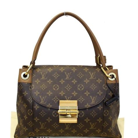 louis vuitton olympe camel monogram canvas satchel