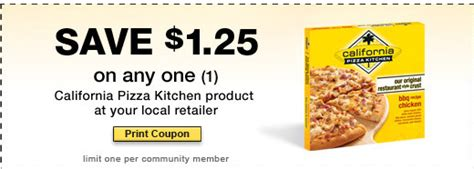 california pizza kitchen coupons california pizza kitchen 1 25 is back
