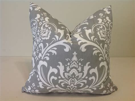 Pillow Slipcovers by Decorative Throw Pillow Cover Gray And White Cushion