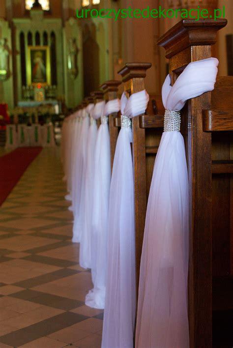dekoracje ławek na ślub dekoracje kościoł 243 w