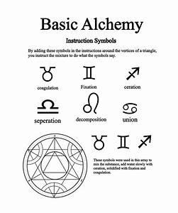 Alchemical Instruction Symbols by Notshurly on DeviantArt