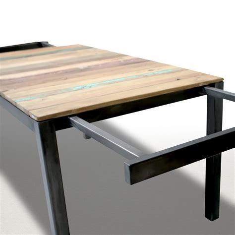 meuble industriel table de salle 224 manger 180cm extensible