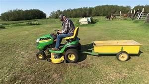 John Deere D140 Riding Lawn Tractor With Trailer