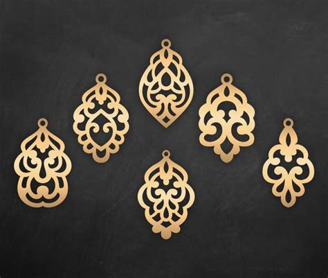 You can copy, modify, distribute and perform the work, even for commercial purposes, all. Set Ornamental Pendant templates vector Cutting File / SVG