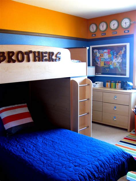 bedroom themes ideas stylid homes bedroom boys room ideas with blue beds cover and bunk