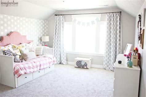 Pink And Gray Girl's Bedroom-honeybear Lane