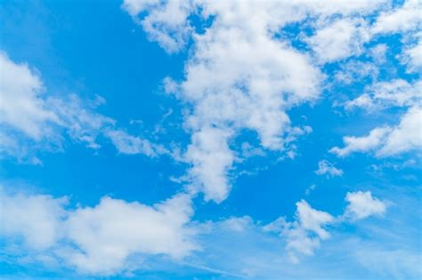 Bleu Sky by Blue Sky With Clouds Photo Free