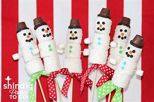 Amanda's Parties To Go: Marshmallow Snowman Treats