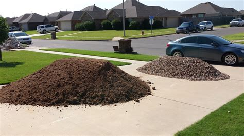 How Much Area Does A Yard Of Gravel Cover by Topsoil Oklahoma City Landscape Supply
