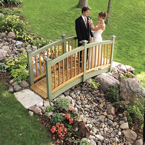 backyard built classic arched backyard bridge the family handyman