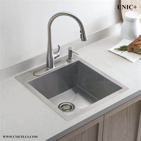19 Inch Zero Radius Stainless Steel Top Mount Kitchen Sink