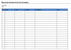 4 useful price list templates for selling electronic With electronic checklist template
