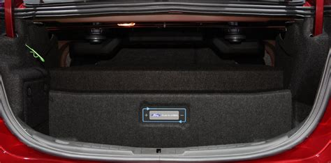 ford fusion trunk dimensions auto express