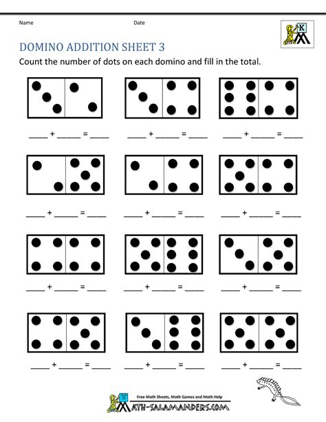 addition math worksheets for kindergarten