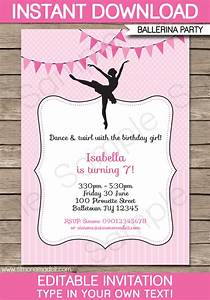 Ballerina Party Invitations Template Birthday Party