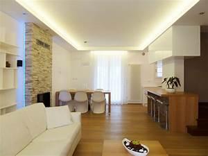 uno splendido soggiorno illuminato da strisce led bianche strisce led Pinterest Strisce