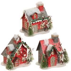raz lighted house christmas ornaments set of 3 shelley b home and holiday